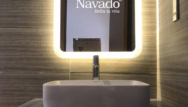 Gia công gương phòng tắm đèn led cao cấp tại Hà Nội