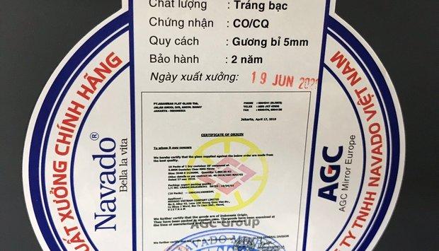 Cách nhận biết gương kính Bỉ nhập khẩu chính hãng AGC tại Việt Nam
