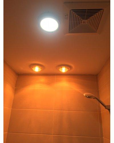 Đèn sưởi nhà tắm âm trần 2 bóng Navado