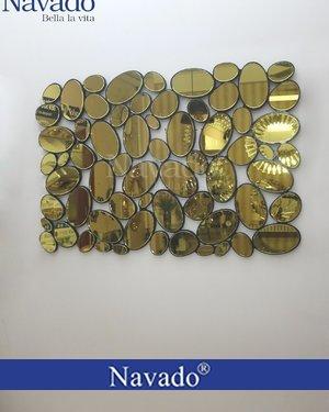 Gương trang trí phòng khách Maimer Gold
