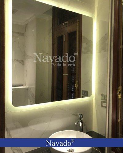 Gương nhà tắm đèn led hắt 700x900mm