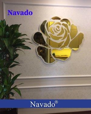 Gương treo tường nghệ thuật Rose