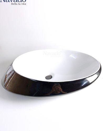Bộ vòi chậu sứ Lavabo nghệ thuật phòng tắm RS 1342WB