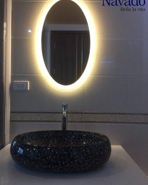 Gương thiết bị vệ sinh đèn led elip Hà Nội