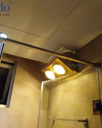 Đèn sưởi treo tường nhà tắm 3 bóng Nav-803