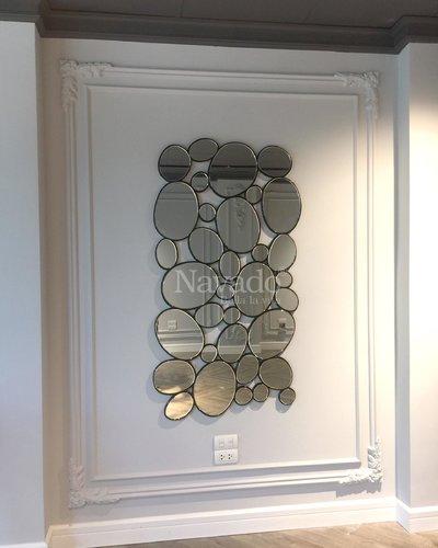 Gương trang trí decor treo tường phòng khách