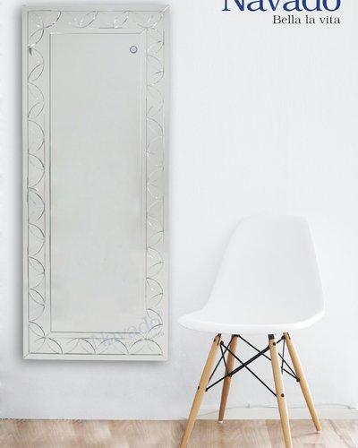 Gương nghệ thuật soi toàn thân Melo white