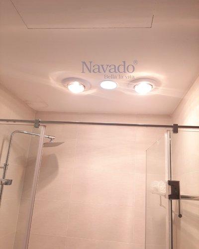 Đèn sưởi hồng ngoại 2bóng âm trần Navado